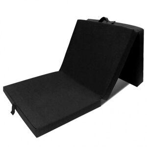 Vidaxl matelas en mousse pliable en 3 sections 190 x 70 x 9 cm noir - Publicité