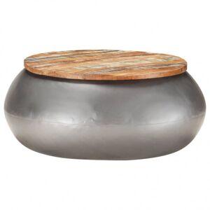 Vidaxl table basse gris 68x68x30 cm bois de récupération solide Tables Tables basses - Publicité