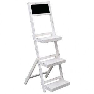Vidaxl présentoir à tableau noir blanc 42x40x120 cm bois Pelouses & jardins Serres de jardin - Publicité