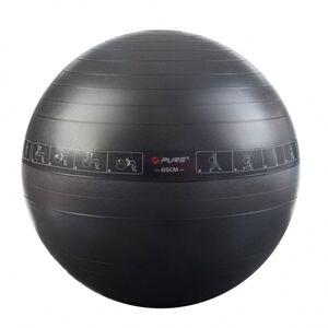 Pure2improve ballon d'exercice 65 cm noir Entraînement & fitness Ballons d'exercice - Publicité