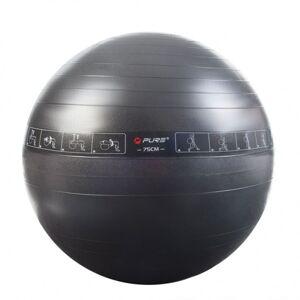 Pure2improve ballon d'exercice 75 cm noir Entraînement & fitness Ballons d'exercice - Publicité
