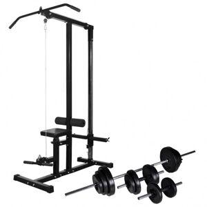 Vidaxl tour de musculation avec jeu d'haltères et poids 30,5 kg Entraînement & fitness Machines d'haltérophilie & supports pour barr - Publicité