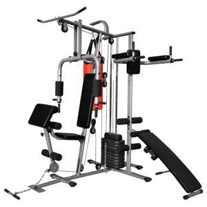 Vidaxl appareil de musculation multifonctionnel avec 1 sac de boxe 65 kg Entraînement & fitness Machines d'haltérophilie & supports pour barr - Publicité