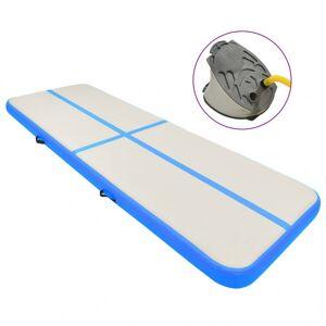 Vidaxl tapis gonflable de gymnastique avec pompe 400x100x15cm pvc bleu Entraînement & fitness Tapis pilates & yoga - Publicité