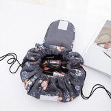 Newchic Sac de voyage sac cosmétique en nylon à grande capacité avec cordon de serrage pour femme