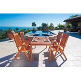 DVG Table � manger d'ext�rieur bois Malibu - 4 chaises L