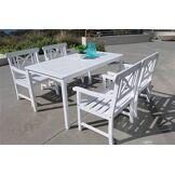 DVG Table � manger d'ext�rieur bois Bradley - 4 chaises X