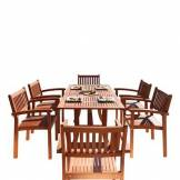DVG Table � manger d'ext�rieur bois Malibu Curve - 6 chaises S