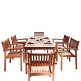 DVG Table � manger d'ext�rieur bois Malibu - 6 chaises S