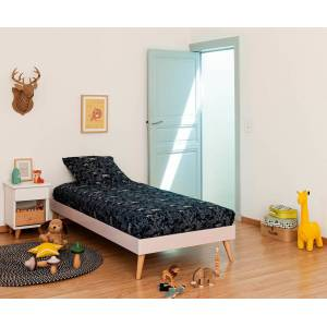 Ma Chambre d'Enfant Lit enfant avec sommier et pieds Honey  Vieux rose 90x190 cm - Publicité