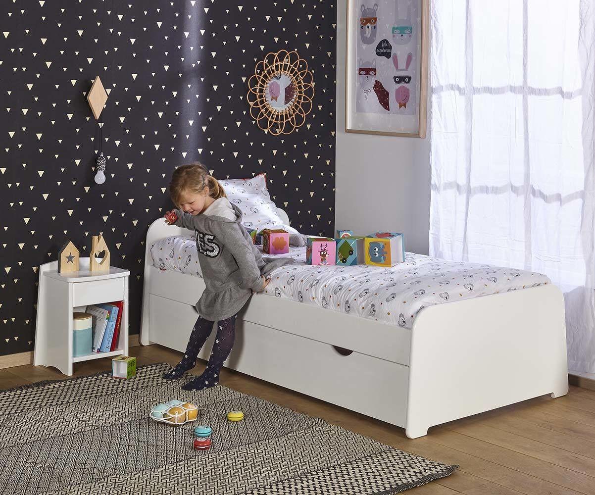 Ma Chambre d'Enfant Lit enfant gigogne Eden  Blanc 90x190 cm