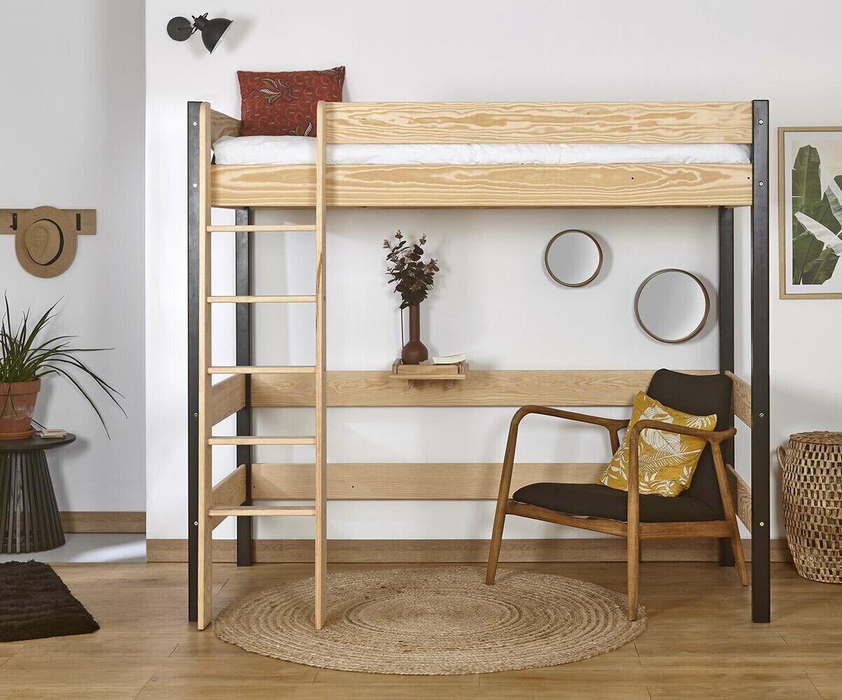 Ma Chambre d'Enfant Lit mezzanine enfant Clay  Blanc 90x190 cm