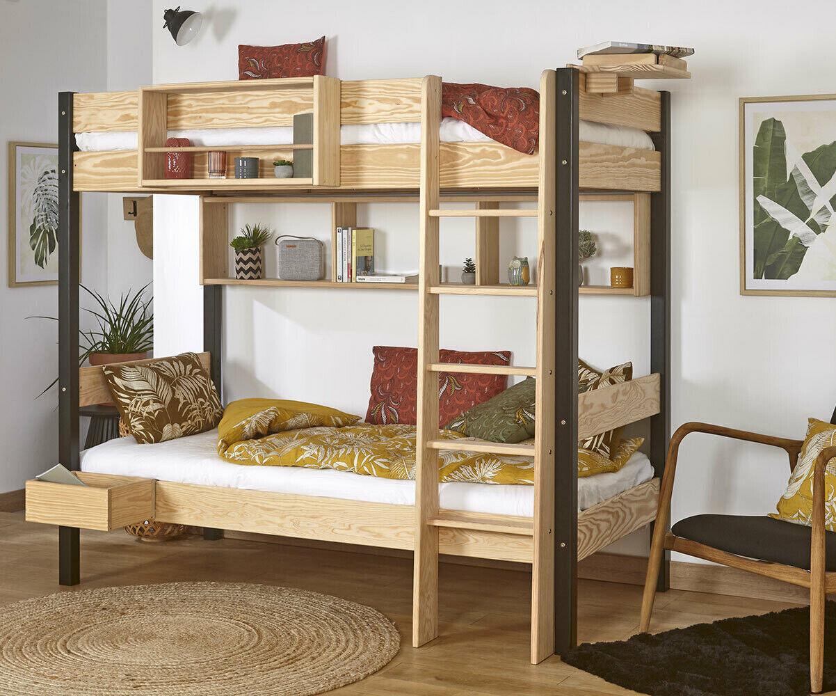 Ma Chambre d'Enfant Lit superposé enfant Clay  Blanc 90x190 cm