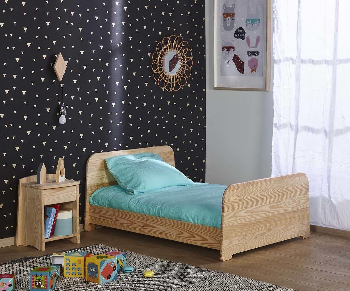 Ma Chambre d'Enfant Lit enfant évolutif Eden  Brut à peindre 90x140 à 90x190 cm