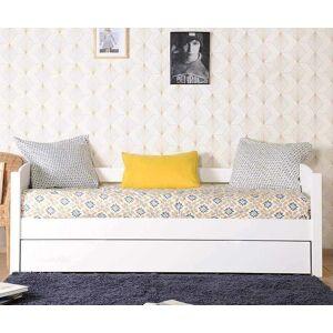 Ma Chambre d'Enfant Lit gigogne banquette enfant Alfin  Blanc 80x200 cm - Publicité