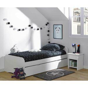 Ma Chambre d'Enfant Lit enfant avec sommier et matelas Twist  Blanc 90x190 cm - Publicité