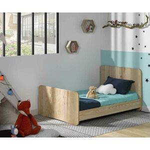 Ma Chambre d'Enfant Lit enfant évolutif Willow  Brut à peindre 90x140 à 90x190 cm - Publicité