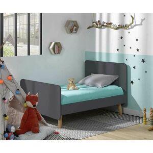 Ma Chambre d'Enfant Lit enfant évolutif avec pieds Willow  Gris anthracite 90x140 à 90x190 cm - Publicité