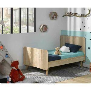 Ma Chambre d'Enfant Lit enfant évolutif avec pieds et matelas Willow  Brut à peindre 90x140 à 90x190 cm - Publicité