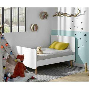Ma Chambre d'Enfant Lit enfant évolutif avec pieds et matelas Willow  Blanc 90x140 à 90x190 cm - Publicité