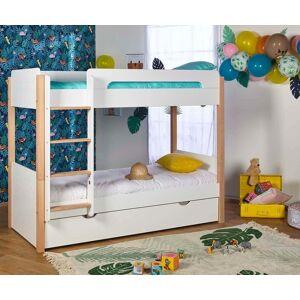 Ma Chambre d'Enfant Lit Enfant Superposé avec Sommier Gigogne Sweet  Blanc 90x190cm - Publicité
