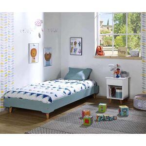 Ma Chambre d'Enfant Lit enfant avec pieds et sommier Happy  Bleu tiksy 90x190 cm - Publicité