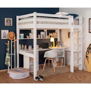 Ma Chambre d'Enfant Lit mezzanine enfant avec bureau Cancun  Blanc 90x190 cm/Opt:Bureau en longueur - Publicité
