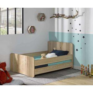 Ma Chambre d'Enfant Lit enfant évolutif avec barrières Willow  Brut à peindre 90x140 à 90x190 cm - Publicité