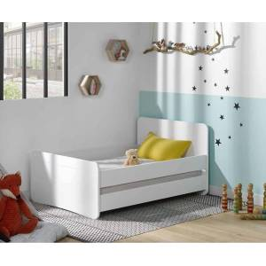 Ma Chambre d'Enfant Lit enfant évolutif avec barrières Willow  Blanc 90x140 à 90x190 cm - Publicité