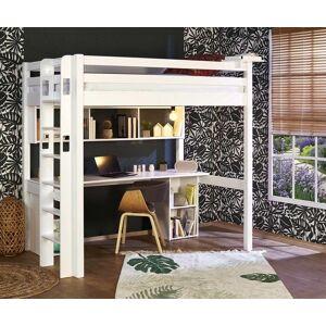 Ma Chambre d'Enfant Lit mezzanine enfant 2 places avec bureau Fynn  Blanc 120x190 cm/Opt:Bureau en longueur - Publicité