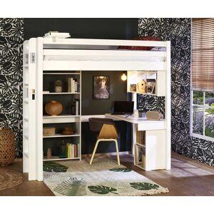 Ma Chambre d'Enfant Lit mezzanine enfant 2 places avec bureau Fynn  Blanc 120x190 cm/Opt:Bureau en largeur - Publicité