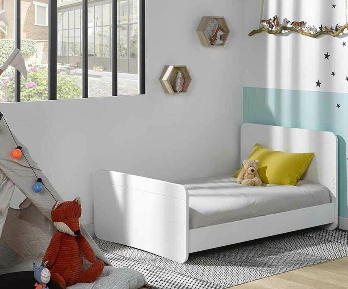 Ma Chambre d'Enfant Lit enfant évolutif Willow  Blanc 90x140 à 90x190 cm