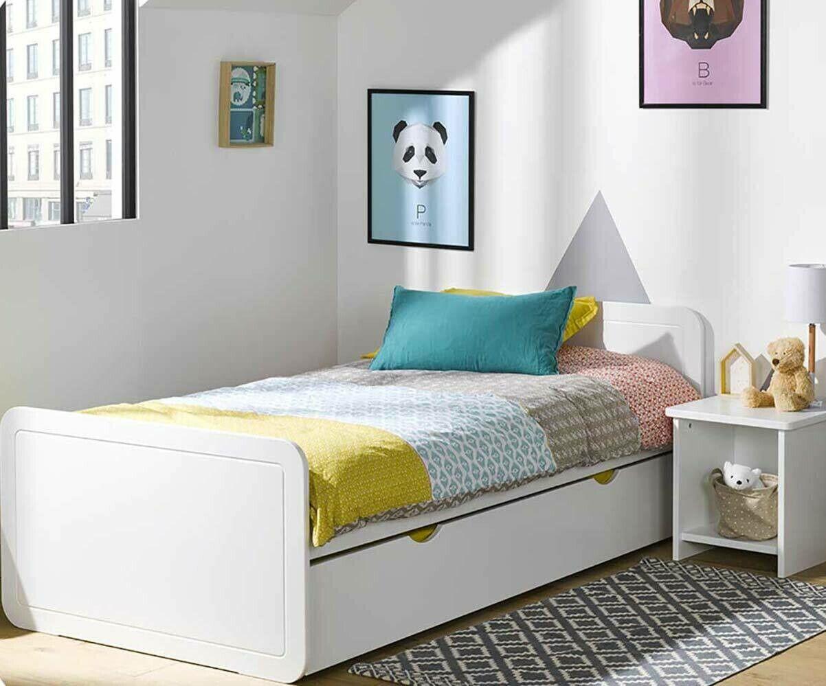 Ma Chambre d'Enfant Lit enfant avec sommier et matelas Lemon  Blanc 90x200 cm