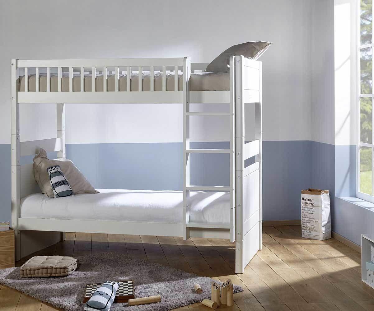 Ma Chambre d'Enfant Lit superposé enfant évolutif couchage haut Rio  Blanc 90x190 cm