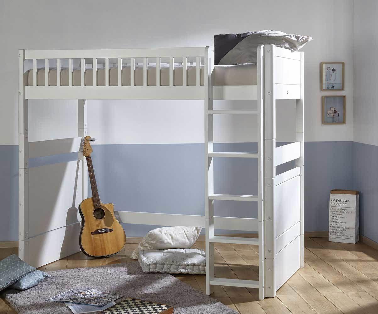 Ma Chambre d'Enfant Lit mezzanine enfant évolutif Rio  Blanc 90x190 cm