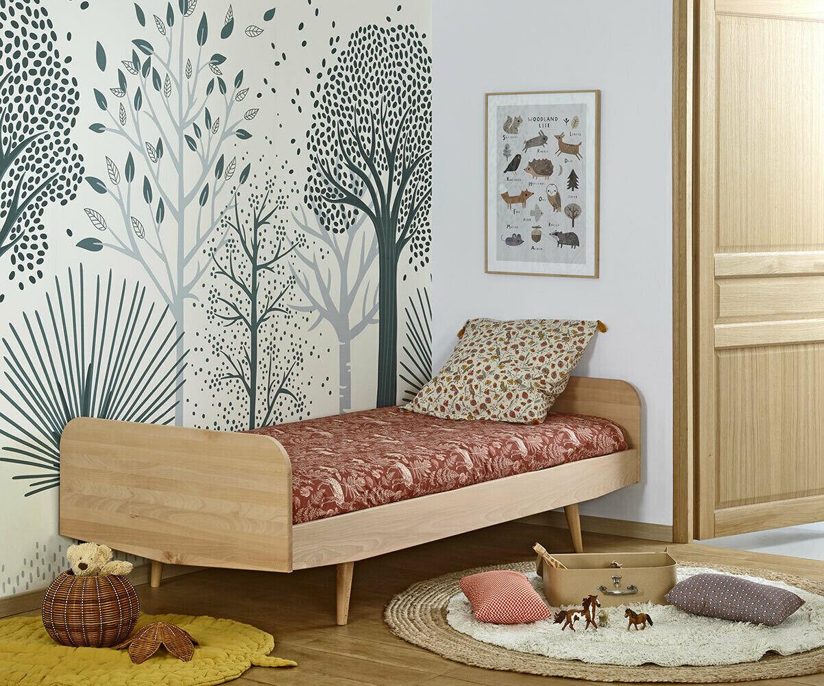 Ma Chambre d'Enfant Lit enfant avec sommier et matelas Eden  Blanc 90x190 cm