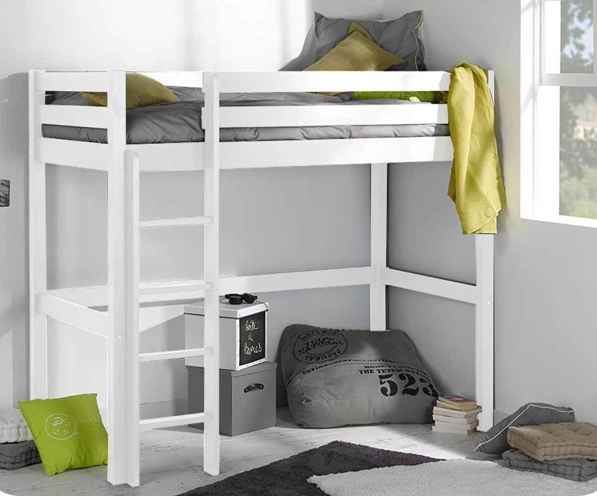 Ma Chambre d'Enfant Lit ado mezzanine Cargo  Blanc 90x190 cm