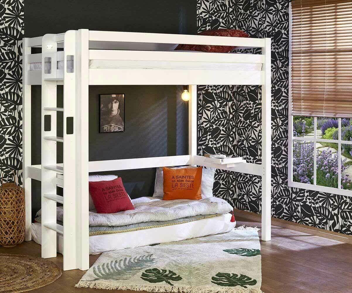 Ma Chambre d'Enfant Lit mezzanine ado Fynn  Blanc 90x190 cm