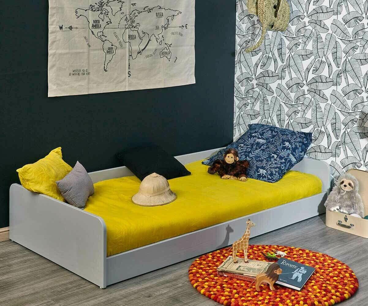 Ma Chambre d'Enfant Lit enfant avec sommier Octave  Gris clair 90x190 cm/Opt:Sans pieds