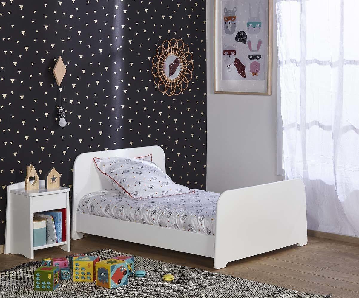 Ma Chambre d'Enfant Lit enfant évolutif Eden  Blanc 90x140 à 90x190 cm