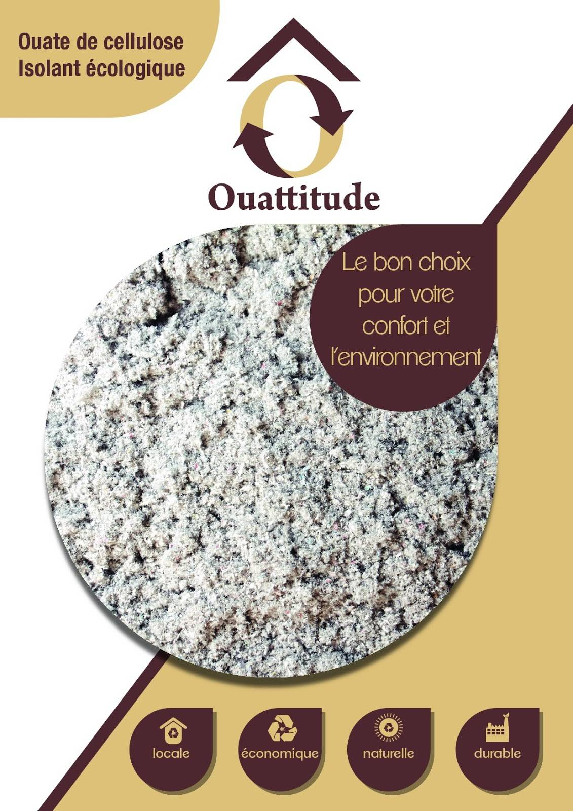 No Name Ouate de cellulose Sac de 10kg