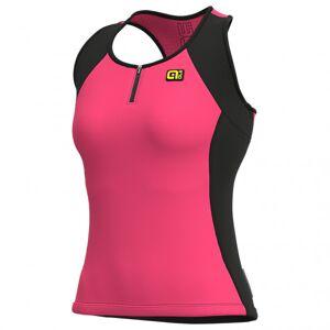 Alé - Women's Color Block Top Solid - Débardeur de cyclisme taille XL, rose/noir