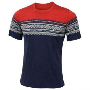 Aclima - DE Marius T-shirt - T-shirt technique taille M, noir/rouge