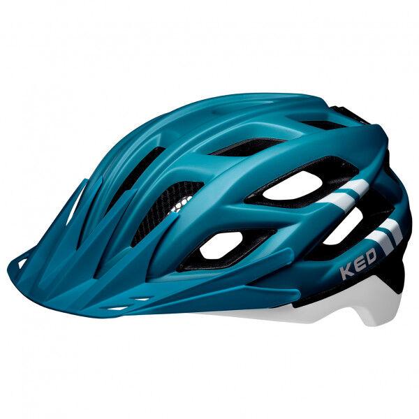KED - Companion - Casque de cyclisme taille M - 52-58 cm, gris/turquoise