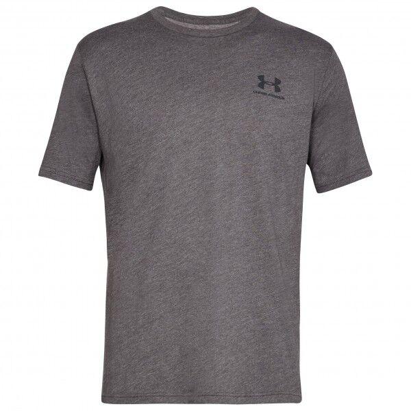 Under Armour - Sportstyle Left Chest S/S - T-shirt technique taille XXL - Regular, gris/noir
