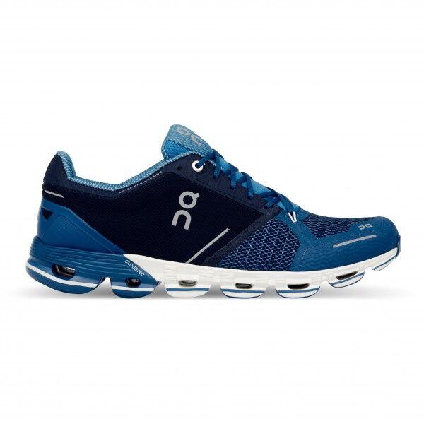 on - cloudflyer - chaussures de running taille 47, bleu/noir/gris