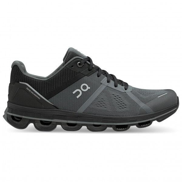 on - cloudace - chaussures de running taille 14, noir/gris