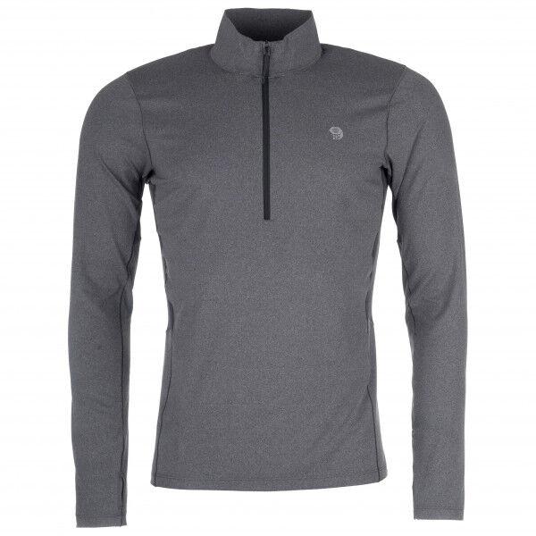 Mountain Hardwear - Ghee Long Sleeve 1/2 Zip - Sous-vêtement synthétique taille XL, gris/noir