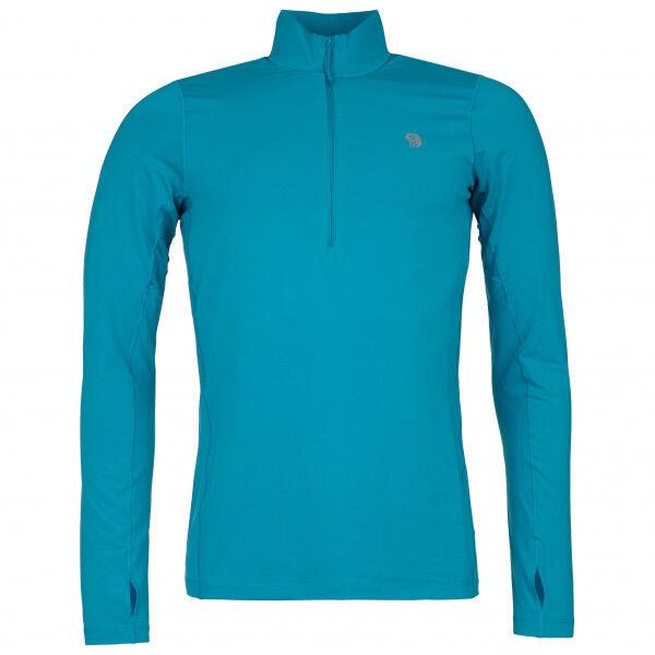 Mountain Hardwear - Ghee Long Sleeve 1/2 Zip - Sous-vêtement synthétique taille M, turquoise
