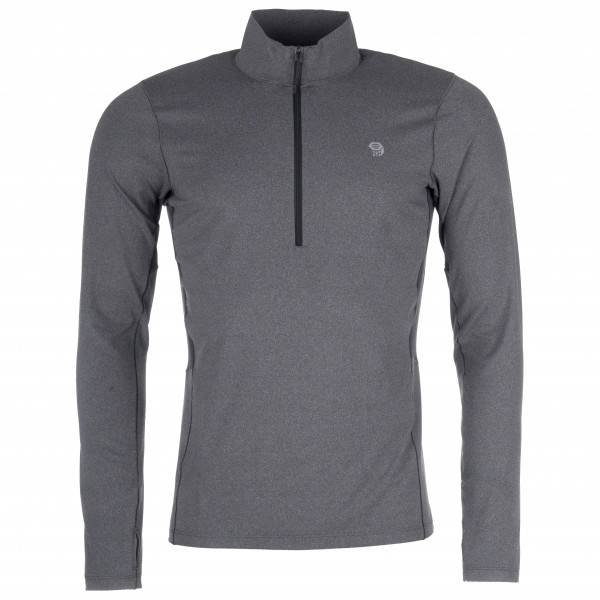 Mountain Hardwear - Ghee Long Sleeve 1/2 Zip - Sous-vêtement synthétique taille L;M;S;XL, gris/noir